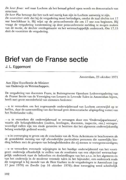 Afsluiting Brief Frans | hetmakershuis